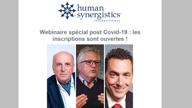 "Webinaire spécial Covid-19 ""Change our world now!"" - Human Synergistics"